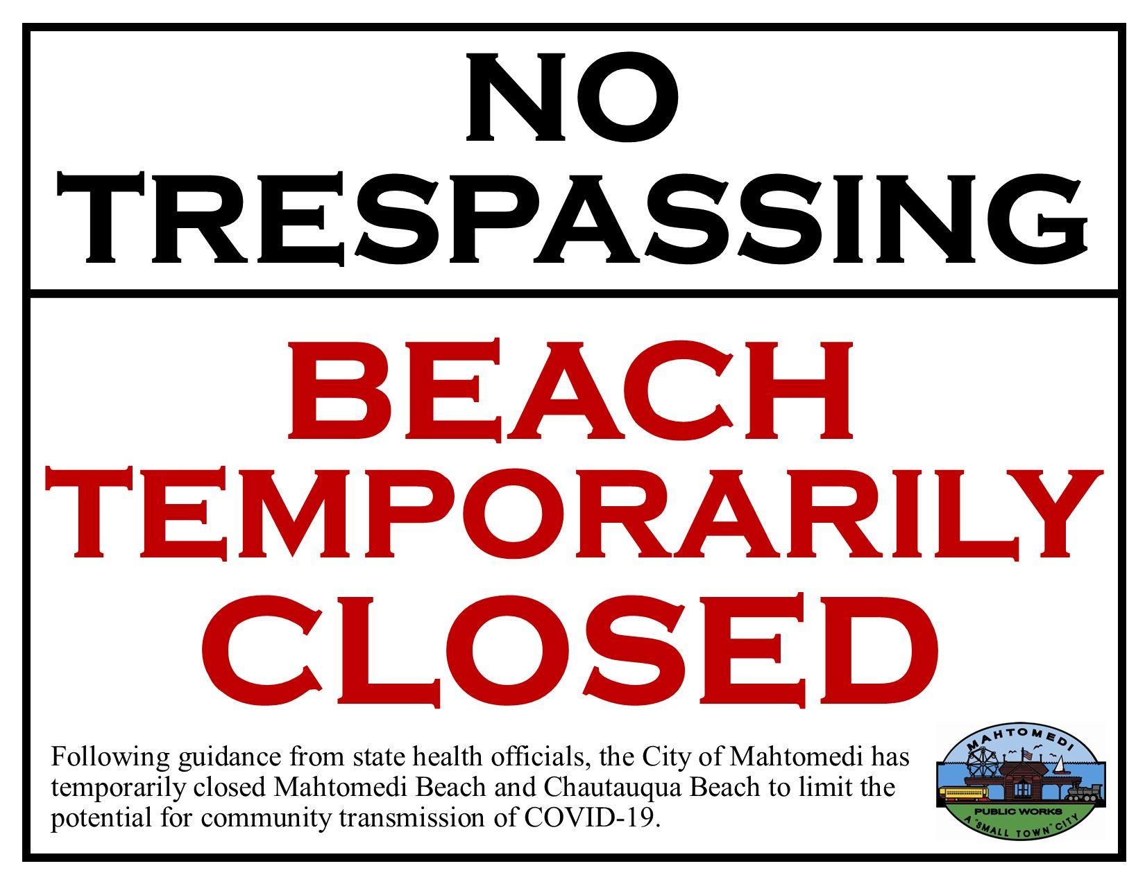 Covid-19 Beach Closed (IMAGE)