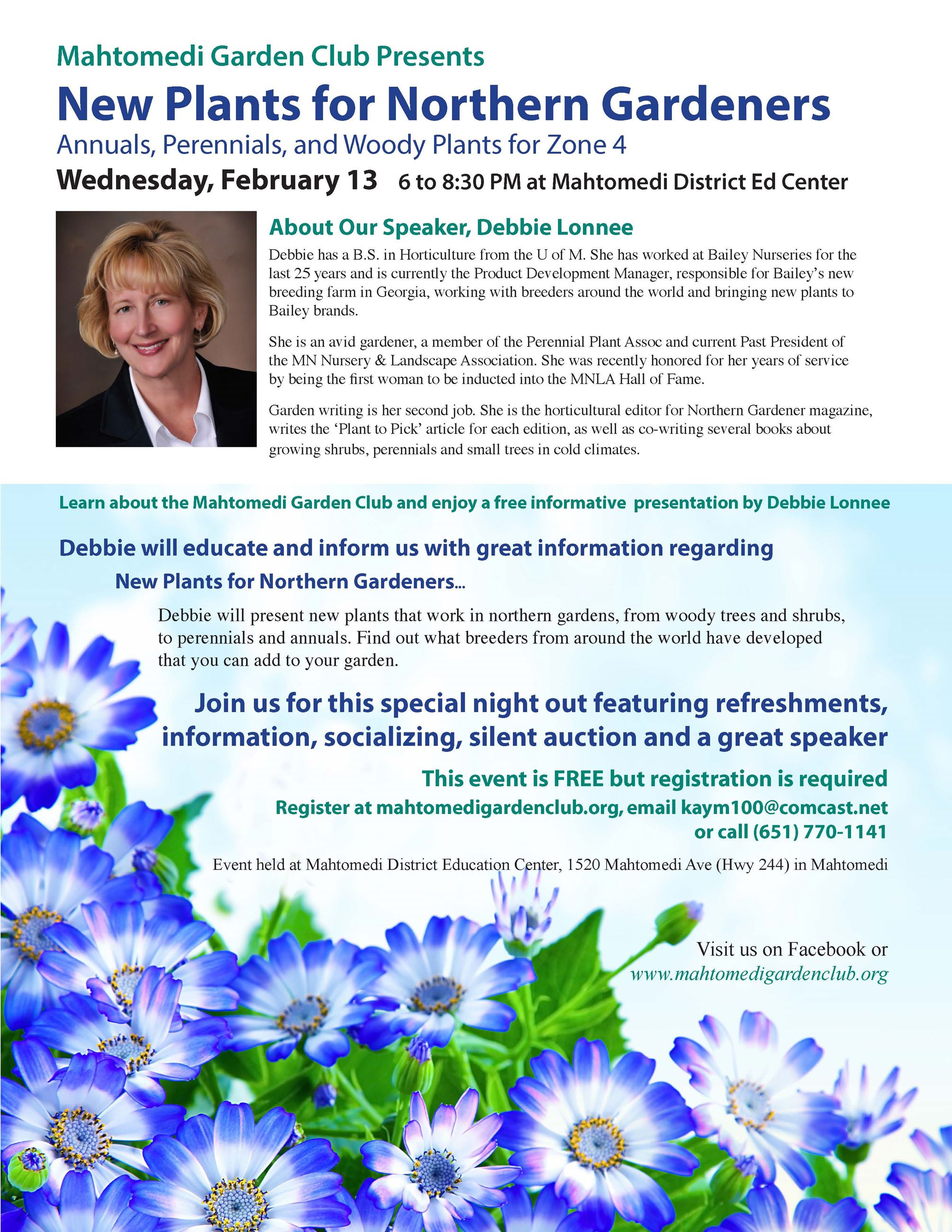 Mahtomedi Garden Club Outreach Flyer (IMAGE)