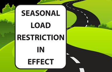 Seasonal Load Restriction Sign (IMAGE)
