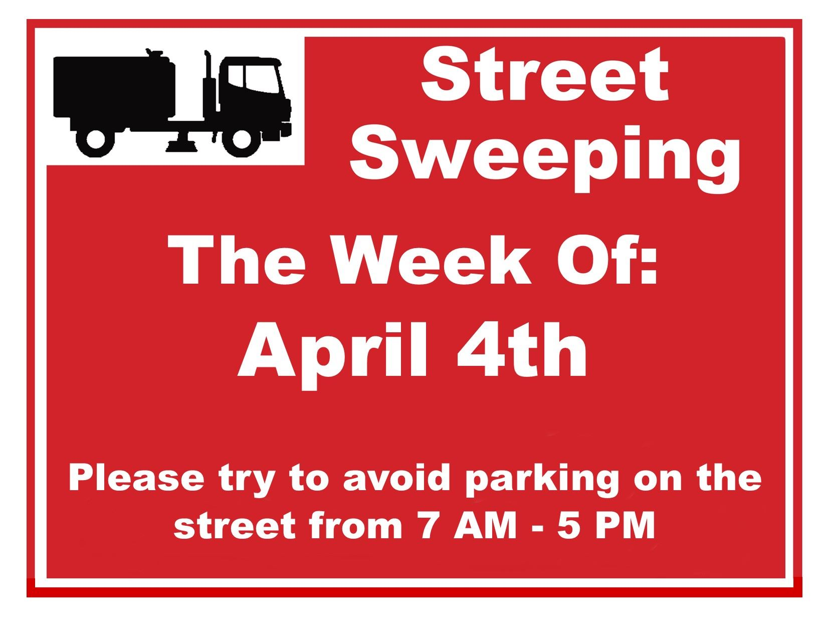 Street Sweeping Sign (IMAGE)