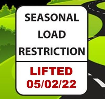 Road Restrictions Sign (IMAGE)