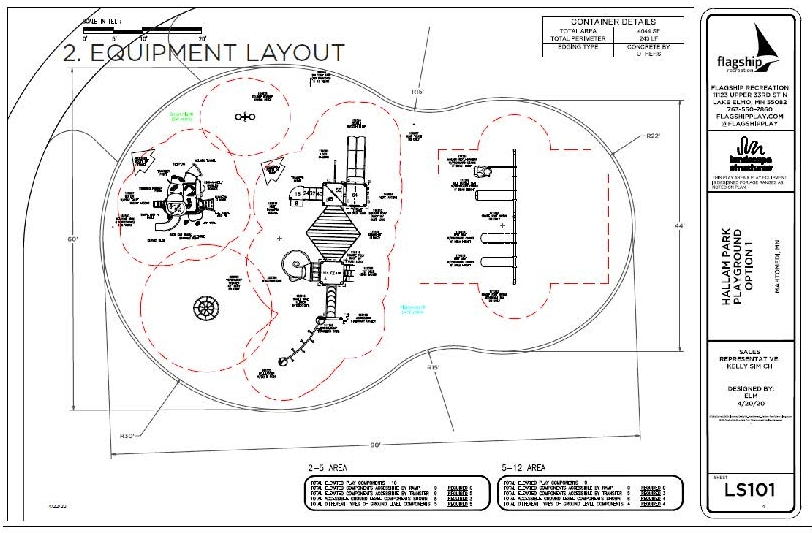Hallam Park Equipment Layout (IMAGE)