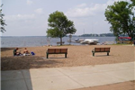 Sand Beach Overlooking White Bear Lake